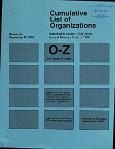 Cumulative List of Organizations Described in Section 170 (c) of the Internal Revenue Code of 1954 Book