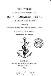The works of John Hookham Frere, collected with a mem. by W.E. and sir B. Frere: Volume 2