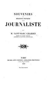 Souvenirs et Réflexions politiques d'un Journaliste