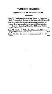 Histoire du moyen age: Invasion des barbares d'orient sur l'empire de Constantiople, Volume2