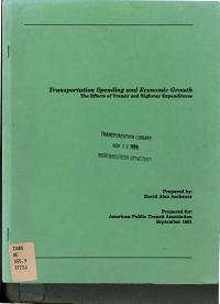 Transportation Spending and Economic Growth PDF