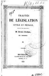 Traités de législation civile et pénale, extraits des manuscrits de Jérémie Bentham: Volume3