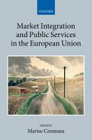Market Integration and Public Services in the European Union PDF