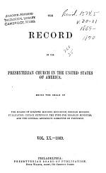 The Record of the Presbyterian Church in the United States of America