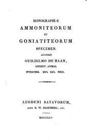 Monographiae ammoniteorum et goniatiteorum specimen
