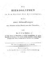 Die Hieroglyphen in dem Mythus des Aesculapius, nebst zwei Abhandlungen über Dädalus und die Plastik unter den Chananäern