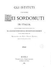 Gli istituti e le scuole dei sordomuti in Italia