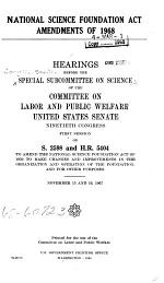 National Science Foundation Act Amendments of 1968