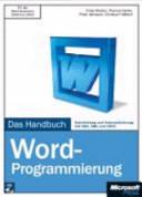 Microsoft Word Programmierung   das Handbuch PDF