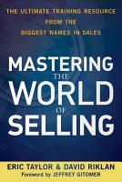 Mastering the World of Selling PDF