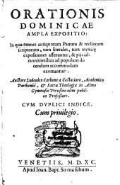 Ludovici Carbonis Costaciaro Orationis dominiciae ampla expositio