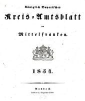 Königlich Bayerisches Kreis-Amtsblatt von Mittelfranken: 1854