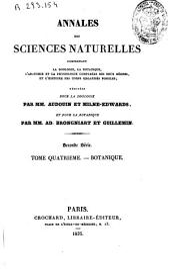 Annales des sciences naturelles: Botanique, Volume4