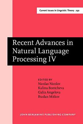 Recent Advances in Natural Language Processing IV PDF