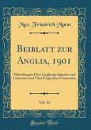 Beiblatt zur Anglia  1901  Vol  12 PDF