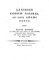 Lexidion Codicis Nasaraei: cui Liber Adami nomen