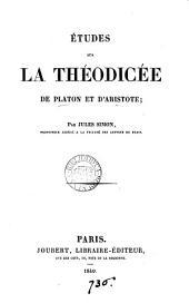 Études sur la théodicé de et d'Aristote