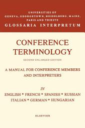 Conference Terminology: In English, French, Spanish, Russian, Italian, German and Hungarian, Edition 2