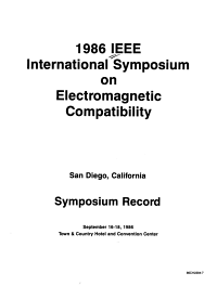 1986 IEEE International Symposium on Electromagnetic Compatibility PDF