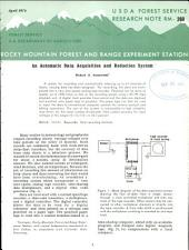 An automatic data acquisition and reduction system