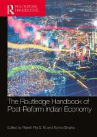 The Routledge Handbook of Post Reform Indian Economy PDF