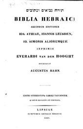 Biblia hebraica, secundum editiones Ios. Athiae, Ioannis Leusden, Io. Simonis aliorumque, inprimis Everardi van der Hooght
