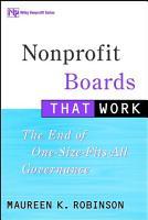 Nonprofit Boards That Work PDF