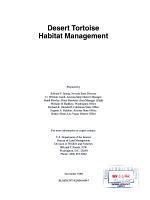Desert Tortoise Habitat Management