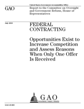 Federal Contracting: Opportunities Exist to Increase Competition and Assess Reasons When Only One Offer Is Received