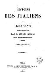 Histoire des Italiens: Volume4