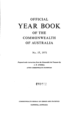 Official Year Book of the Commonwealth of Australia No  57  1971 PDF