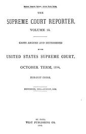 Supreme Court Reporter: Volume 15