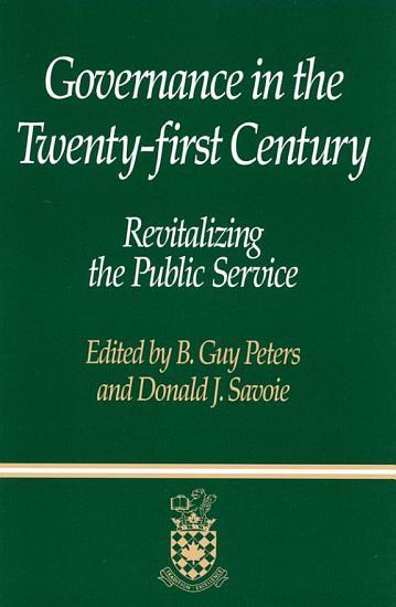 Governance in the Twenty first Century PDF