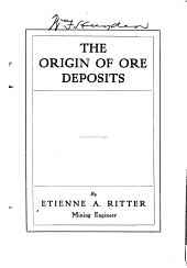 The Origin of Ore Deposits