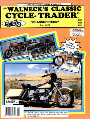 WALNECK S CLASSIC CYCLE TRADER  MAY 1993 PDF