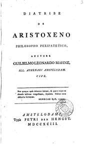 Diatribe de Aristoxeno