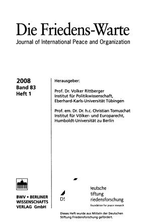 Die Friedens Warte PDF
