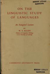 On The Linguistic Study Of Languages Book PDF