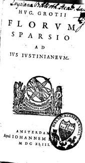 Florum sparsio ad jus Justinianeum