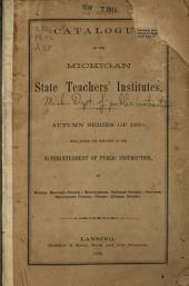 Catalogue of the State Teachers' Institutes