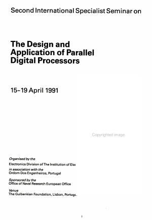 The Design and Application of Parallel Digital Processors PDF