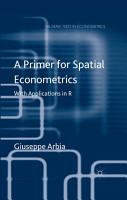 A Primer for Spatial Econometrics PDF
