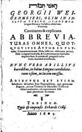 Tractatus continens et explicans abbreviaturas omnes: quotquot ipse autor ex plurima commentariorum Heb. lectione observare potuit, ...; adiectus est etiam Sebastiani Münsteri ...