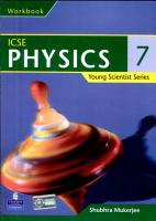 Young Scientist Series ICSE Physics Work Book 7 PDF