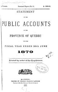 Statement of the Public Accounts of the Province of Quebec and Annual Report of the Auditor of the Province PDF