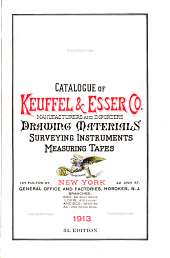 Catalogue and Price List of Keuffel & Esser Co, Manufacturers and Importers of Drawing Materials and Surveying Instruments: Issue 34