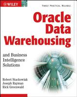 Oracle Data Warehousing and Business Intelligence Solutions PDF