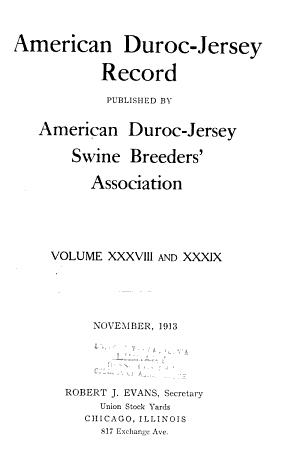 American Duroc-Jersey record