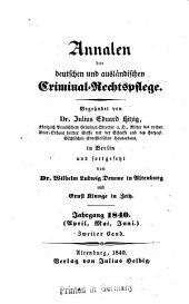 Annalen der deutschen und ausländischen criminal-rechts-pflege: Band 11