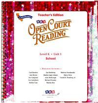 Sra Open Court Reading School Book PDF